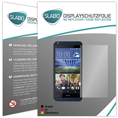 Slabo 4 x Displayschutzfolie für HTC Desire 626G Dual SIM Displayfolie Schutzfolie Folie Zubehör No Reflexion MATT