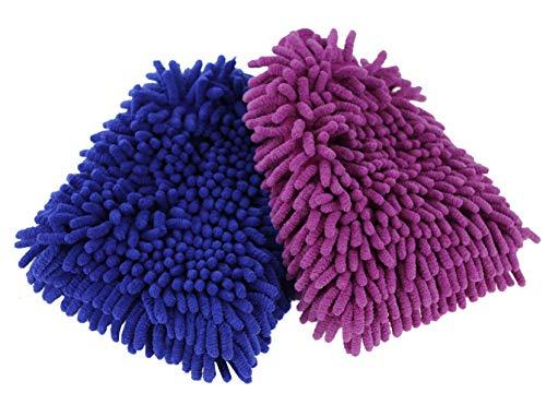 JUMPFISCH Premium Autowäschesndtücher Handschuhe für Autowäsche Auto-, Möbel- und Fensterreinigung und -pflegung.(2 Stücke)