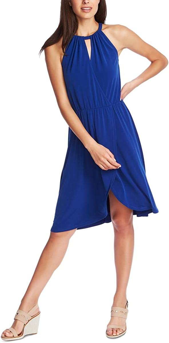 1.State Womens Halter Neck High-Low Party Dress