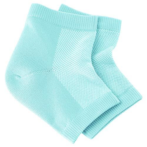 NatraCure atmungsaktive & feuchtigkeitsspendende Gel Fersensocken – Größe: Regulär – Anti Hornhaut & Fersensporn Socken, Hacken & Fersenschutz gegen Fersenschmerzen für Damen & Herren