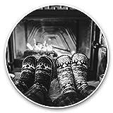 Impresionantes pegatinas de vinilo (juego de 2) 15 cm (bw) – Calcetines, divertidos calcetines de invierno para portátiles, tabletas, equipaje, reserva de chatarra, frigorífico, regalo genial #39764