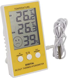 Max Min Thermometer with Main Unit Hygrometer - Indoor Outdoor with 1m Cable