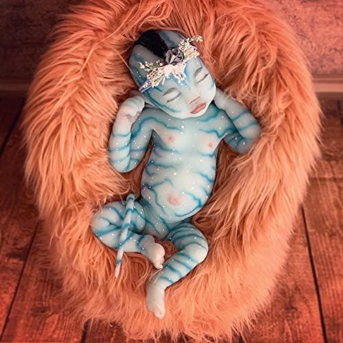 QWEBDF Avatar Doll 12 Pulgadas Simulación Linda Muñecas masculinasy Femeninas Silicona Suave Material Muñeca renacimientomano Regalo de Juguete de compañía para niños (Diadema seleccionada al Azar)