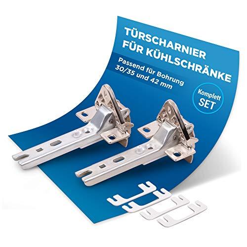 Set di 2 cerniere di ricambio per Siemens Bosch 00268698 268698 Miele 2285121, adatto per diverse porte di frigorifero/congelatore AEG/Bauknecht/Neff