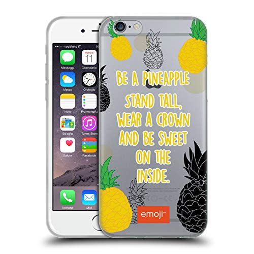 Head Case Designs Oficial Emoji Manténganse Alto Cactus Y Piña Carcasa de Gel de Silicona Compatible con Apple iPhone 6 / iPhone 6s