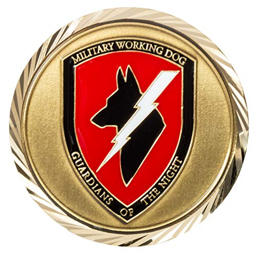 United States Department of Defense DOD Military Working Dogs Search and Defend K-9 Guardians of The Night Challenge Coin