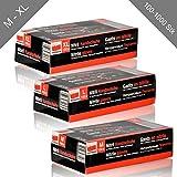 100-1000 x HSM Nitril Handschuhe Gr. M - XL Einmal – Handschuhe puderfrei Einweghandschuhe Schwarz (100 Stück, Größe XL)