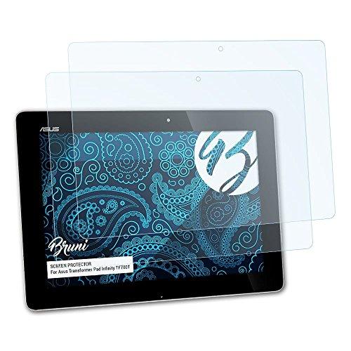 Bruni Schutzfolie kompatibel mit Asus Transformer Pad Infinity TF700T Folie, glasklare Bildschirmschutzfolie (2X)