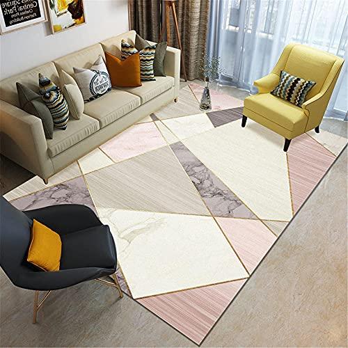 IRCATH Patrones de combinación geométricos Irregulares, Colores Brillantes, Accesorios para el hogar, sofá, Sala de Estar, Sala de Estar Alfombra-60x90cm Las alfombras Son aptas para Suelos radiantes