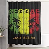 LongTrade Cortina de la Ducha Just Relax Rastafarians Reggae Weed Decoration Ornament for Bathroom Shower Curtain Shower Room Home Print Pattern Set 60x72 Inch