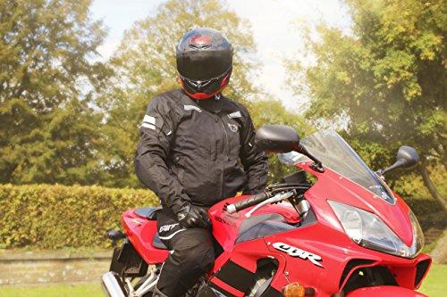 JET Motorradjacke Textil Wasserdicht Winddicht Mit Protektoren Multifunktional Schwarz - 9