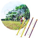 boogift 2 Paar Bubble Wand Riesen Riesenseifenblasen Seifenblasen-Stab Seifenblasen Stab für Kinder Erwachsene,zum Ausziehen für leichten Transport, für Partys, zur Nutzung im Außenbereich