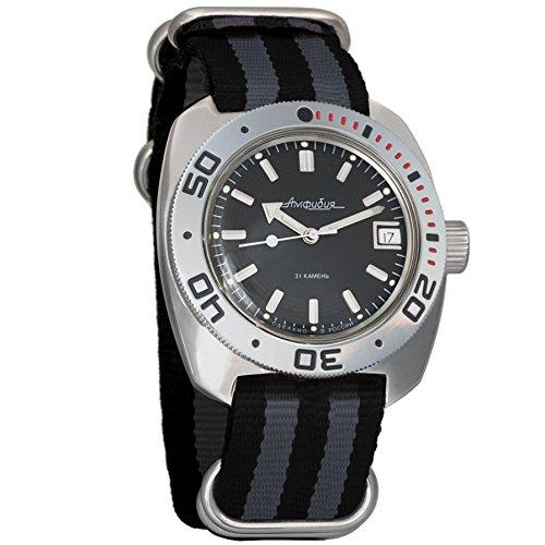 Vostok Amphibian automático Mens Reloj de pulsera Self-winding Militar buceo anfibios Ministerio caso reloj de pulsera # 710922