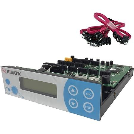 Ridata SATA CD/DVD/Blu Ray Duplicator Controller Card 1-11 Target Multi Burner 128MB Buffer + Cables