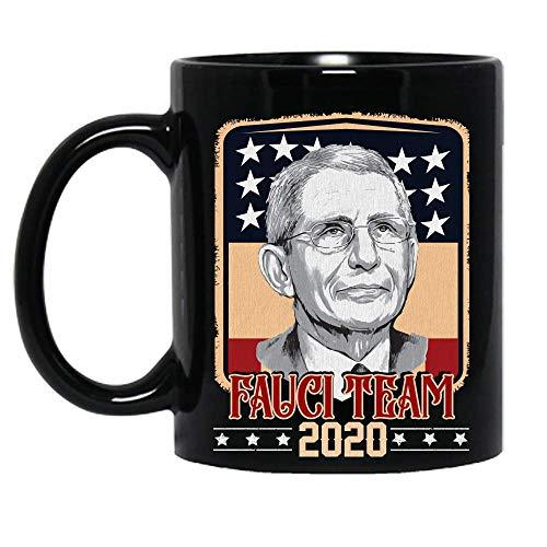 Team Fauci 2020 Quarantine Mask Social Distance Trust Dr Usa Flag Vintage Ceramic Mug Graphic Coffee Mugs Black Cups Tea Tops Custom Novelty 11 Oz 15 Oz