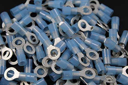 14-16 Gauge Nylon Ring # 10 Connector 500 PK Blue Crimp Terminal AWG CAR SUV
