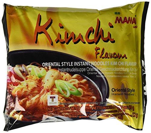 MAMA Instantnudeln Kimchi – Instantnudelsuppe orientalischer Art – Authentisch thailändisch kochen – Im Bigpack – 30 x 90 g
