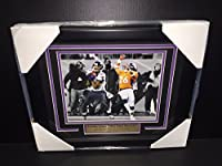 JACOBY JONES AUTOGRAPHED 8X10 MILE HIGH MIRACLE PHOTO RAVENS FRAMED Signature