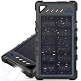 Portable Solar Charger, BEARTWO 10000mAh Ultra-Compact External...