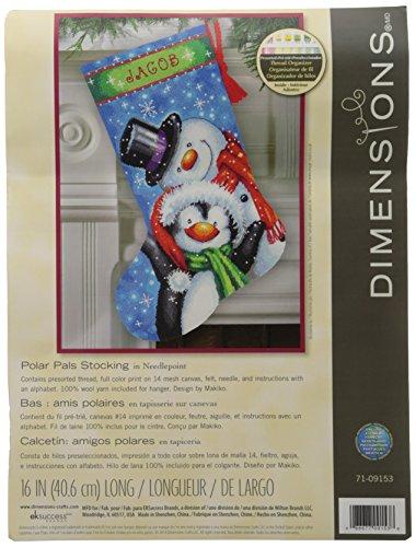 Dimensions Crafts Needlecrafts Needlepoint Stocking Kit, Polar Pals