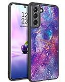"""DUEDUE - Cover per Samsung S21, motivo lucido, con scritta """"Le Soir"""", in silicone di qualità"""