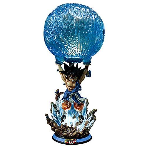 Dragon Ball Z Estatuas Super Saiyan Wukong Vitality Bullet Can Light Dragonball Super Boys Modelo Adornos Regalo de cumpleaños Escultura Figurine Moderno Home Coleccionables Anime Juego Estatuas