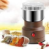 Aiboria Multifunction Smash Machine,150W Macinacaffè Elettrico Coffee Grinder Smerigliatrice Polverizzatore in Acciaio Inossidabile per Erbe Domestiche,Spezie (Venatura del Legno Profonda)