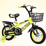 Nerioya Biciclette per Bambini, Adatte per Mountain Bike/Biciclette di 3-5-9 Anni, Biciclette per Bambini da 16 Pollici / 18 Pollici / 21 Pollici / 23,6 Pollici con Ruote Flash, Stabilizzatori,C,18in