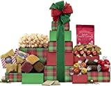 Wine Country Gift Baskets Festive Chocolate and Cookie Tower, Gourmet Food, 1 Count