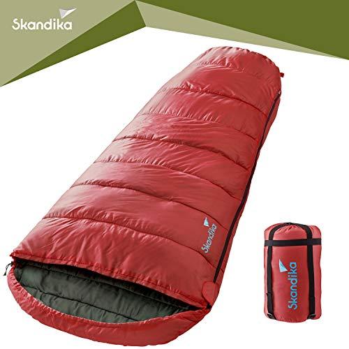 Skandika Vegas (Rot) Sleeping Pod Sacco a Pelo con Ampio Spazio per Il Movimento