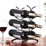 KKJLXX Botelleros de Vino Estilo Europeo de 6 Botellas de Vino Estante del Metal, Independiente de Almacenamiento de Cocina Soporte gabinete del Vino de UVA de Vino Estante de exhibición Bar