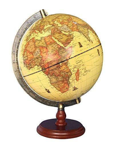 Exerz 25CM Antiker Globus mit Holzfuß - für Kinder Büro Deko Inneneinrichtung - Englischer...