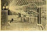 HUYUEXIN Póster De Lienzo Póster E Impresiones Vintage Nikola Tesla Póster Bobina Turbina Lámpara Estilo Torre Arte Pintura Etiqueta De La Pared 50 * 70Cm Relación Calidad-Precio Sin Marco