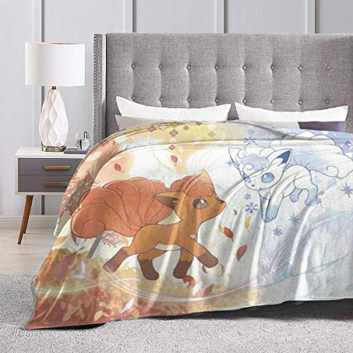 """Heavenly Battle Vulpix Ice and Fire Supernatural Winter Ultra-Soft Micro Flano Bed Blankets Luxurious Cozy Printed Fluffy Plush Blanket for Couch Chair Living Room 50""""x40"""""""