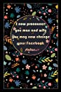 "I now pronounce you man and wife you may now change your Facebook status: Beautiful Notebook/Journal Gift for Her, Birthday's Gift for Her,Funny Floral Cover Statement, 100 pages, 6""x9"", Matte Finish"