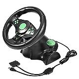 Bewinner Gaming Lenkrad für PC, Gaming Racing Lenkrad mit Pedalen für Xbox 360 / PS2 / PS3 / PC USB 23cm Durchmesser Racing Wheel Support 180 Grad Lenkrotation