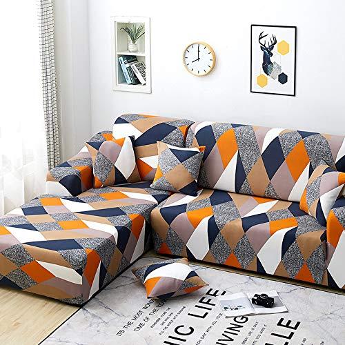 LLWYH Funda para Sofá Cubierta De Sofá Elástico Universal Combinada 4 Asientos: 235-300Cm Cubo De Rubik