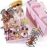 Set de 24 horquillas para el pelo para niñas, lazos para el pelo para niños, set de regalo, horquillas para el pelo, joyas para el pelo, como regalo de cumpleaños para niñas pequeñas