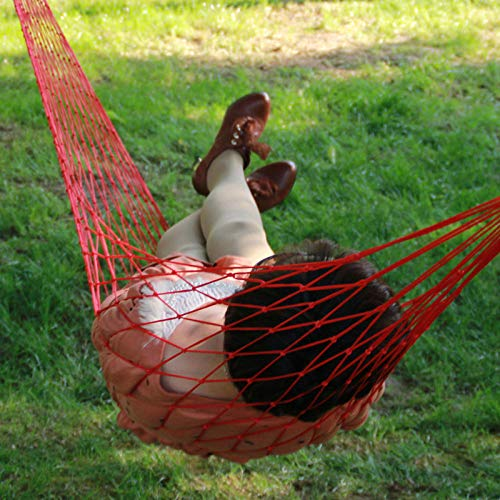 Hangmat voor buiten, touw van nylon, voor het ophangen van lakens voor volwassenen, studenten, slapen, buiten en ga zo maar door. red Azul Y Amarillo