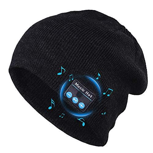 Cappello Bluetooth V5.0 Uomo Donna Invernali, Caldo Lavorato a Maglia Senza Fili Bluetooth Cuffia Musica Cappello con...