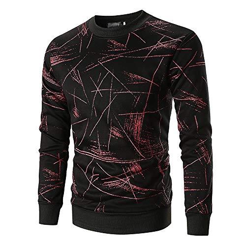 FRAUIT Hemd Heren Prachtig bedrukt Mannen shirt met lange mouwen trui sweatshirt lange mouwen shirt ronde hals met camouflage-print van hoogwaardig 100% katoen M-2XL