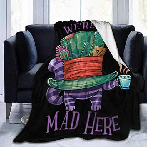 Halloween were All Mad Hereair Conditioner Blanket Super Soft Micro Plush Blanket...