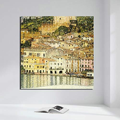 Berühmte Maler Tapete Kunst Leinwand Wandkunst Poster drucken Moderne Wohnkultur,Rahmenlose Malerei,40x40cm