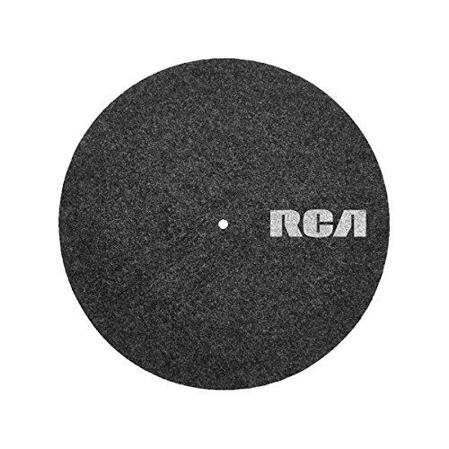 RCA Plattentellerauflage für Plattenspieler aus Filz - 30cm Durchmesser, antistatisch, plattenschonend, vibrationsdämpfend - dunkelgrau