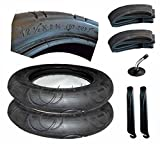 2er Set Reifen + Schlauch mit Winkelventil 12 1/2 Zoll 57-203 mit Montagehebel