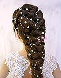 Novia Joyas de pelo con perlas