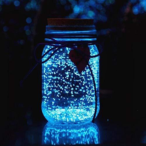 Lichtgevende ster fluorescerende pot paar met deksel transparant verse sticker glazen fles-Medium blauw