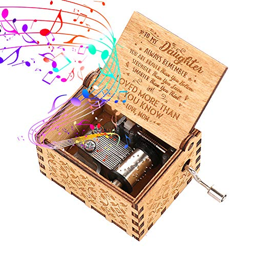 Zebery Pure Hand Music Box Wood-You are My...
