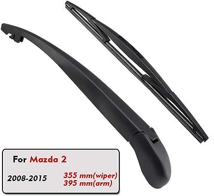 SLONGK Auto Car Rear Wiper Blade Rubber Back Ventana Brazo del Limpiaparabrisas, para Mazda 2