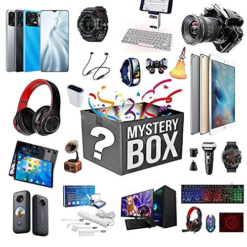 RTEY Mystery Box Electronics, Mystery Artículo Lucky Boxes, obtendrá: Pulsera Inteligente, Altavoz Bluetooth, Auriculares inalámbricos, teléfono móvil, etc. B